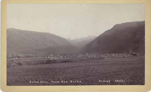 Vintage Aspen Mining Claim Maps and Photographs - Aspen, Colorado from Red Butte border=