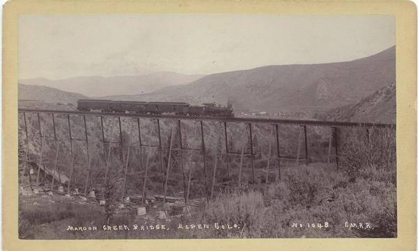 Vintage Aspen Mining Claim Maps and Photographs - Maroon Creek Bridge - Aspen, Colorado border=
