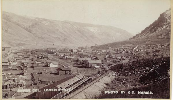 Vintage Aspen Mining Claim Maps and Photographs - Aspen, Colorado looking East border=