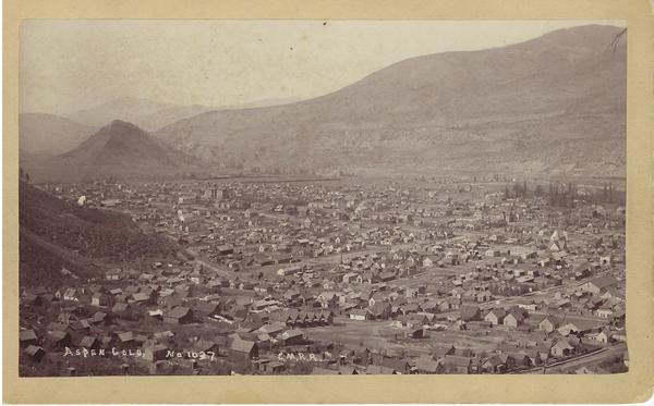 Vintage Aspen Mining Claim Maps and Photographs - Aspen, Colorado Looking toward Red Butte border=