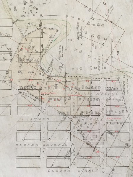 Vintage Aspen Mining Claim Maps and Photographs -      Aspen Townsite Map