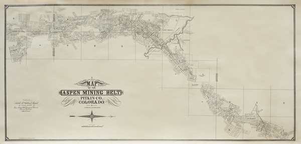 Vintage Aspen Mining Claim Maps and Photographs - The Aspen Mining Belt border=