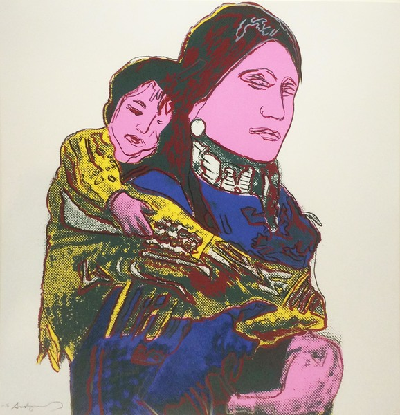 Andy Warhol - Mother and Child border=