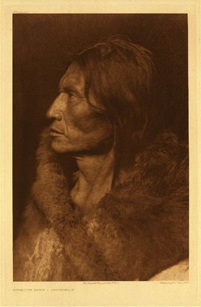 Edward S. Curtis - Plate 102 Mosquito Hawk- Assiniboin border=