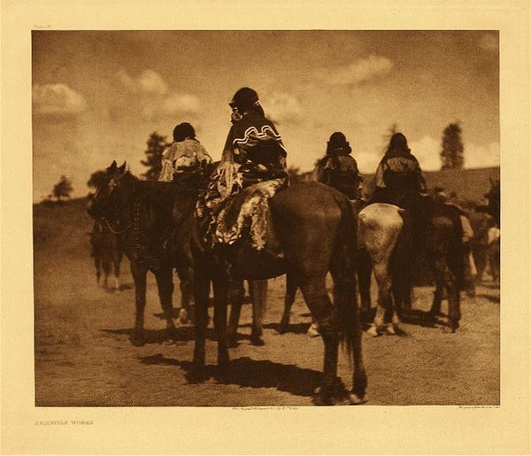 Edward S. Curtis -   Plate 025   Jicarilla Women border=