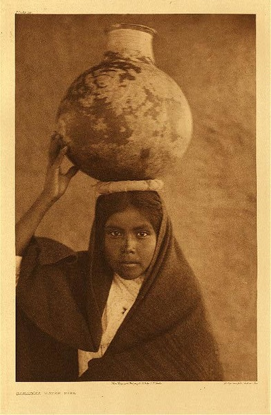 Edward S. Curtis - Plate 054  Qahatika Water Girl border=