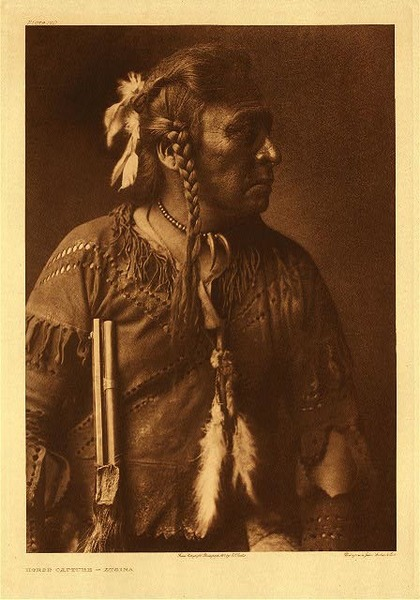 Edward S. Curtis -   Plate 170 Horse Capture - Atsina border=
