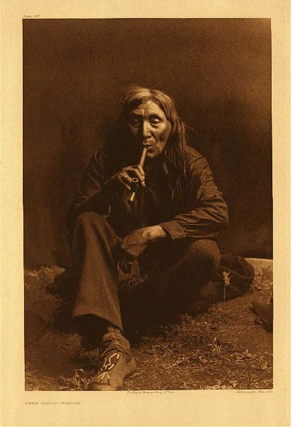 Edward S. Curtis -   Plate 201 Crow Eagle - Piegan border=