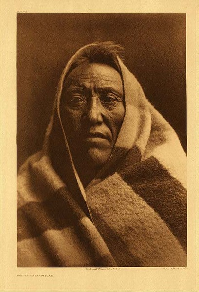 Edward S. Curtis -   Plate 202 Middle Calf - Piegan border=