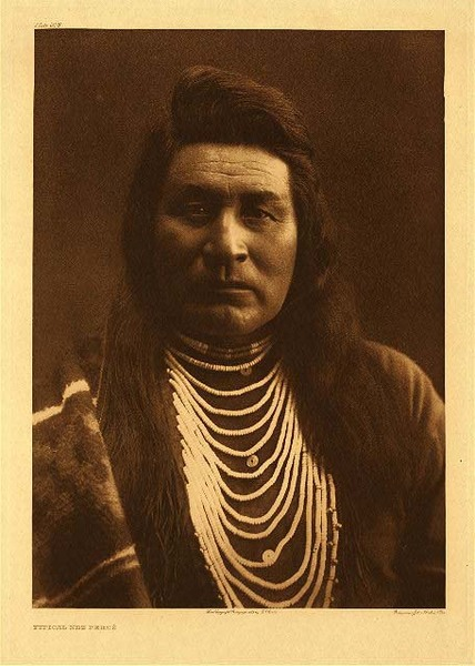 Edward S. Curtis - Plate 258 Typical Nez Perce border=