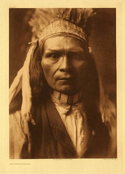 Edward S. Curtis - Plate 262 Nez Perce Warrior border=