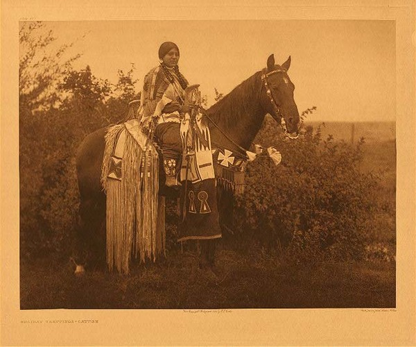 Edward S. Curtis - Plate 273  Holiday Trappings - Cayuse border=