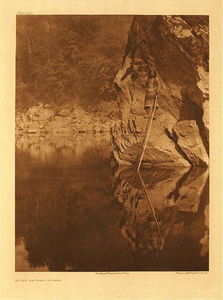 Edward S. Curtis - Plate 444 Quiet Waters - Yurok border=