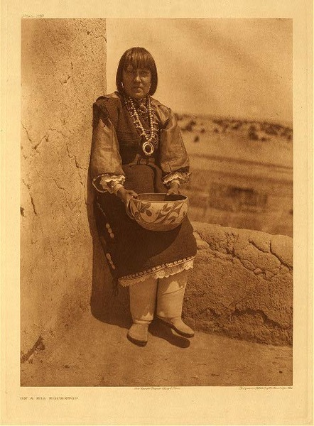 Edward S. Curtis - Plate 559 On a Sia Housetop border=