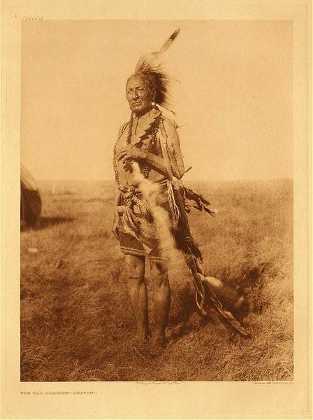 Edward S. Curtis - Plate 673  The Old Warrior - Arapaho border=