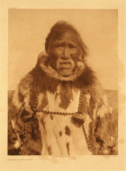 Edward S. Curtis - Plate 721 Charlie Wood - Kobuk border=