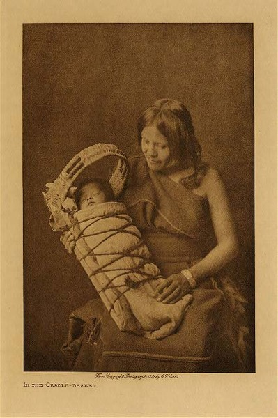 Edward S. Curtis - In The Cradle Basket, Vol. XII border=