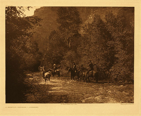Edward S. Curtis - Plate 140  A Mountain Fastness - Apsaroke border=