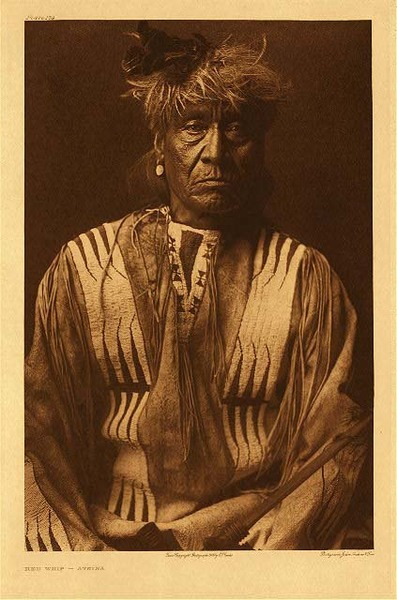 Edward S. Curtis -   Plate 174 Red Whip - Atsina border=