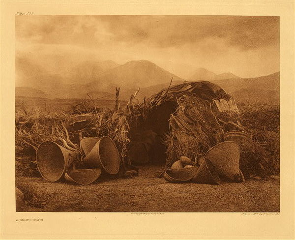 Edward S. Curtis - Plate 533 A Mono Home border=