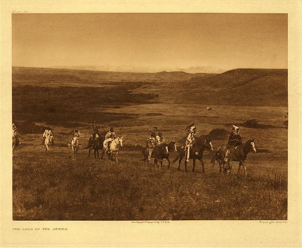 Edward S. Curtis - Plate 169 The Land of the Atsina border=
