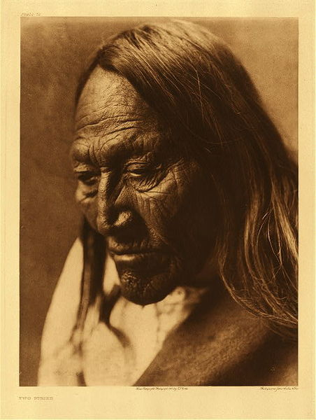 Edward S. Curtis - Plate 078 Two Strike border=