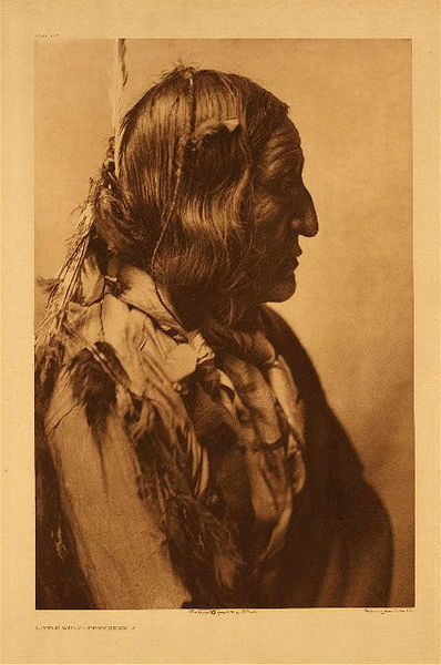 Edward S. Curtis - Plate 219 Little Wolf - Cheyenne border=