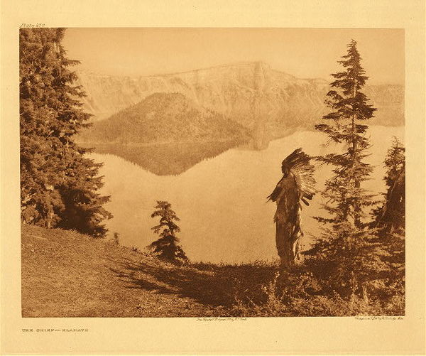 Edward S. Curtis -   Plate 470 The Chief - Klamath border=