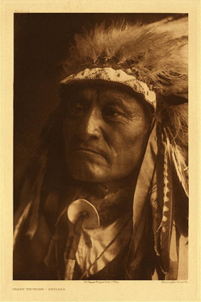 Edward S. Curtis - Plate 104 Crazy Thunder - Ogalala border=