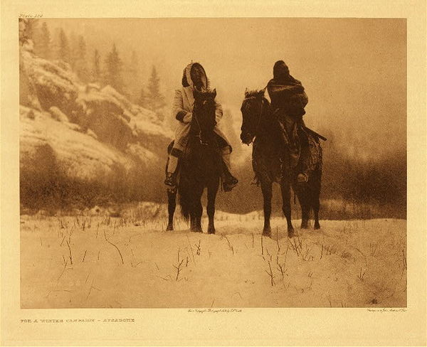 Edward S. Curtis -   Plate 129 For A Winter Campaign border=