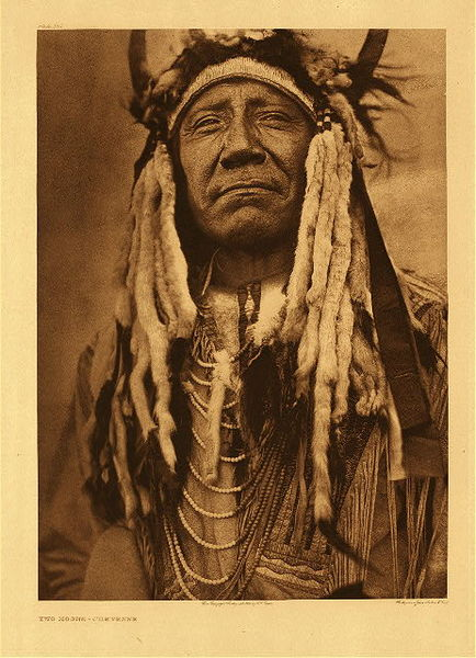 Edward S. Curtis - Plate 213 Two Moons - Cheyenne border=