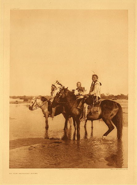 Edward S. Curtis - Plate 659 On the Canadian River border=