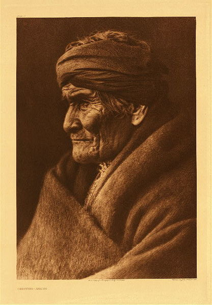 Edward S. Curtis -   Plate 002 Geronimo - Apache border=