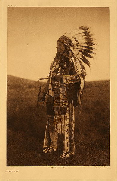 Edward S. Curtis - Plate 087 High Hawk border=
