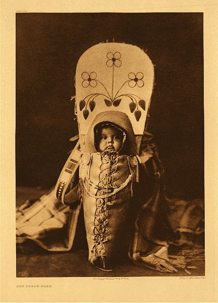Edward S. Curtis - Plate 266 Nez Perce Babe border=