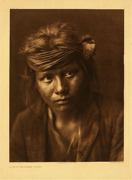 Edward S. Curtis -   Plate 032  A Son of the Desert border=