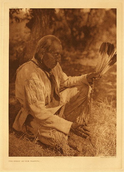 Edward S. Curtis - Plate 658 The Story of the Washita border=