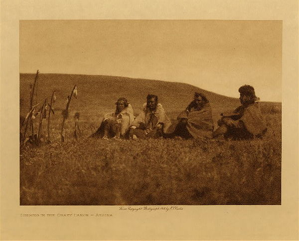 Edward S. Curtis - Singing in the Crazy Dance - Atsina border=