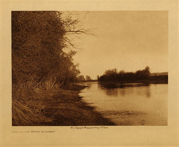 Edward S. Curtis - Home of the Water Monster border=
