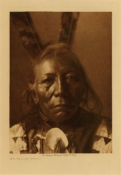 Edward S. Curtis - Ring Thunder - Brule border=