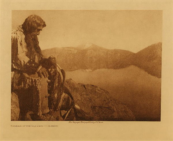 Edward S. Curtis - Thinking of the Old Days border=