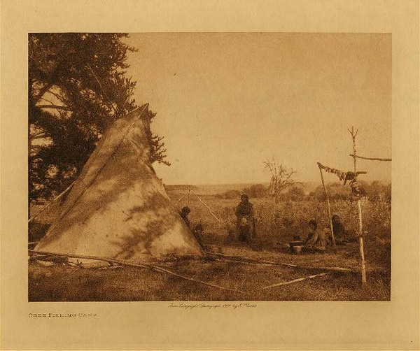 Edward S. Curtis - Cree Fishing Camp border=