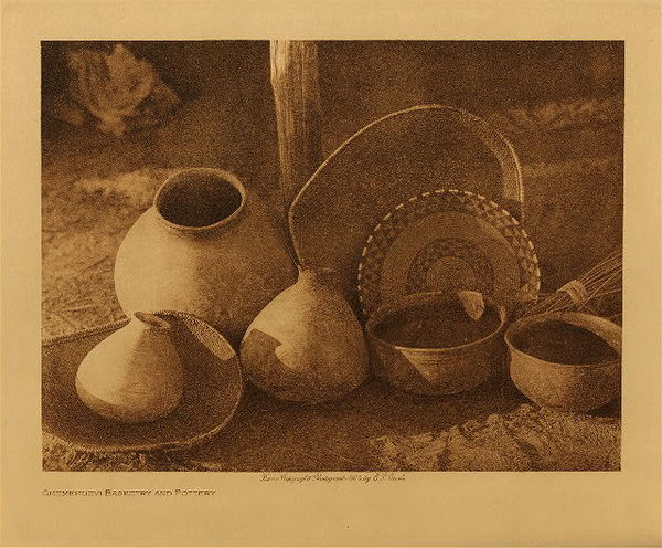 Edward S. Curtis - Chemehuevi Basketry and Pottery border=