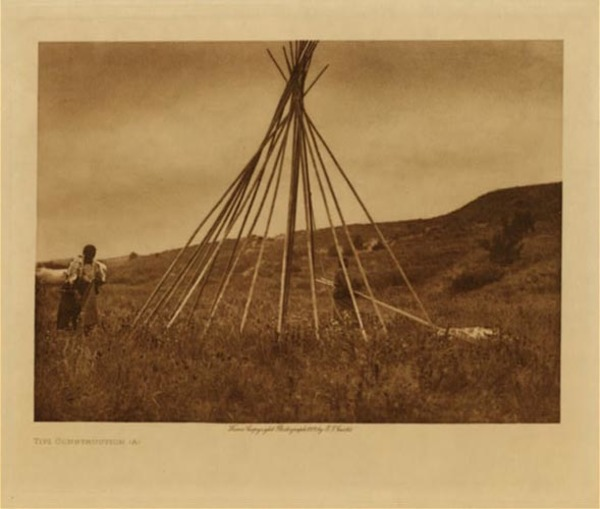 Edward S. Curtis - Tipi Construction (A) border=