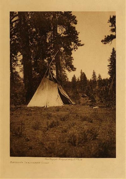 Edward S. Curtis - Author's Temporary Camp border=