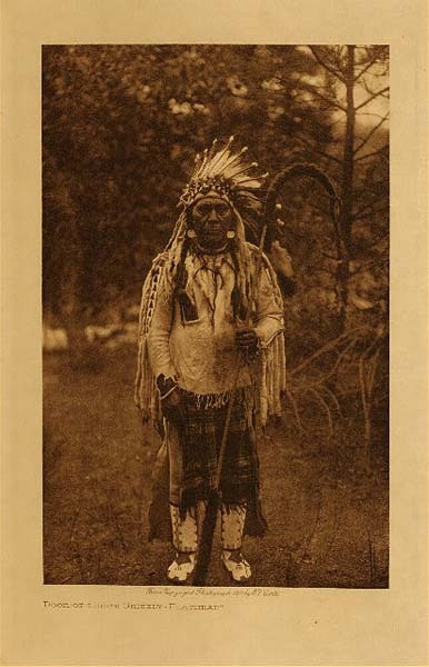 Edward S. Curtis - Door-of-Lodge Grizzly - Flathead border=