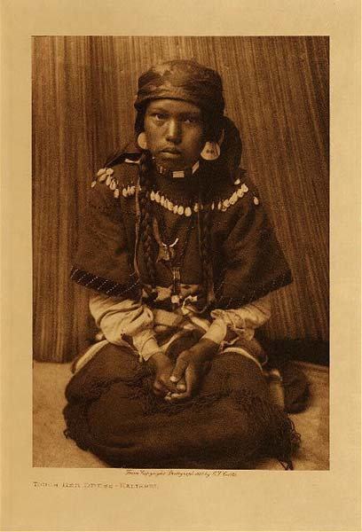 Edward S. Curtis - Touch Her Dress - Kalispel border=