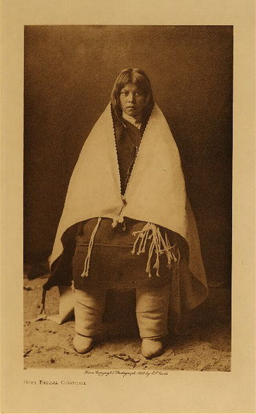Edward S. Curtis - Hopi Bridal Costume border=