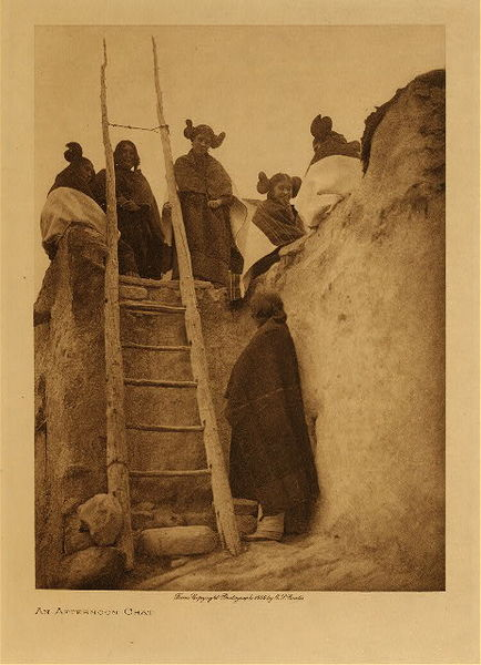 Edward S. Curtis - An Afternoon Chat border=