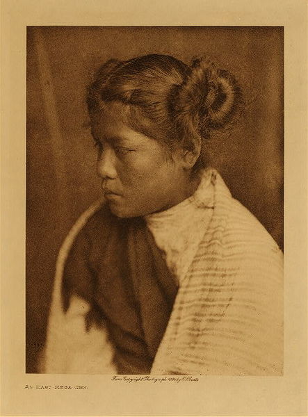 Edward S. Curtis - An East Mesa Girl border=
